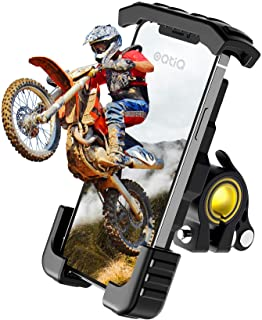 Bike Phone Holder, Motorcycle Phone Mount - Oqtiq Motorcycle Handlebar Cell Phone Clamp, Scooter...