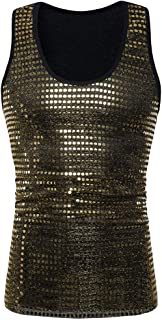 Fashion Mens Tank Tops Charm Sequined Blazer Hiphop Show Stage Party Wear Vest