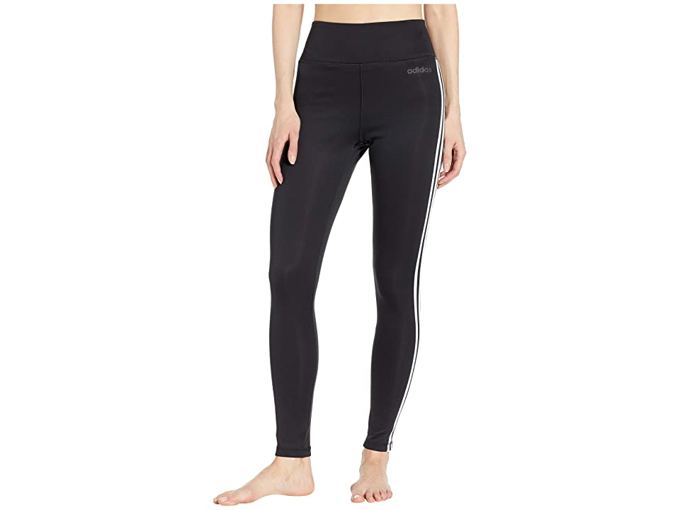 adidas Designed-2-Move High-Rise Long 3-Stripes Tights (Black) Women's Casual Pants