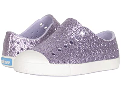 Native Kids Shoes Jefferson Bling Glitter (Toddler/Little Kid) (Powder Bling/Shell White) Girls Shoes