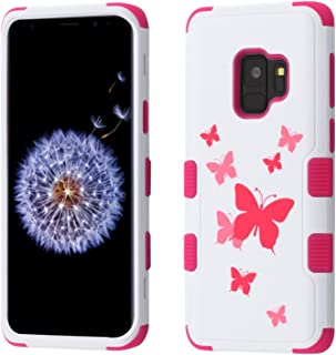 MyBat Cell Phone Case for Samsung Galaxy S9 - Butterfly Dancing/Hot Pink Image