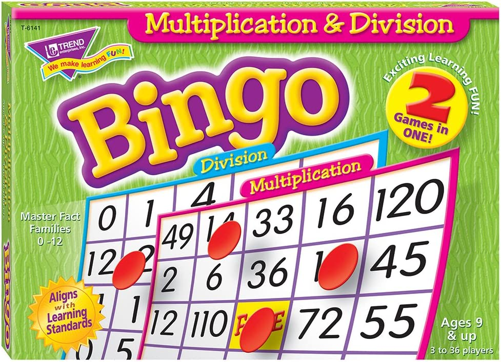 Max 79% OFF Multiplication Finally popular brand Division Bingo Game