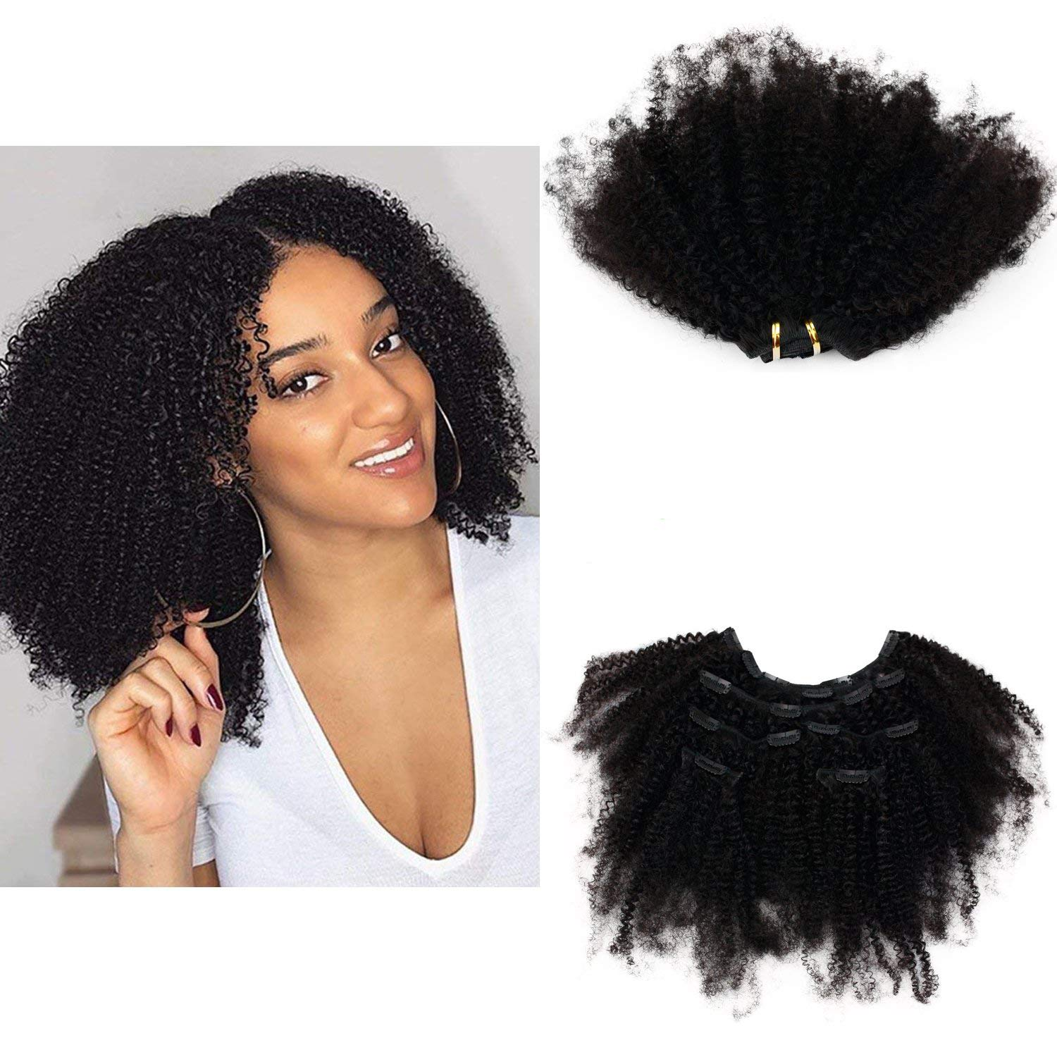 RossyNancy Ranking TOP13 Virginia Beach Mall Afro Kinky Curly Clip Hair in V Extensions Brazilian