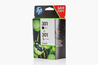 Original de tinta para HP Officejet 2620, HP 301, n9j72a, no301N9j72ae–2x Premium Impresora de tinta–Negro, Cian, Magenta, Amarillo–1x 190& 1x 165páginas