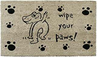 """Rubber-Cal """"Wipe Your Paws Dog Doormat, 18 by 30-Inch"""