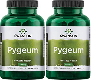 Swanson Pygeum Prostate Support Urinary Tract Health Men Herbal Supplement 100 mg Pygeum Extract (6.5% phyt...
