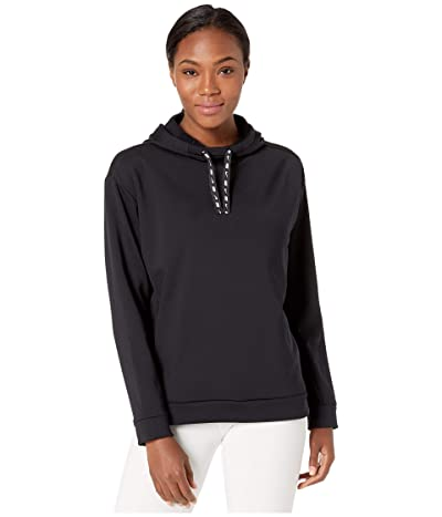 Nike Therma All Time Ribbon Drawcord Pullover Hoodie (Black/White) Women
