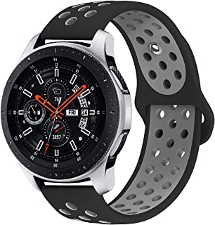 KADES Galaxy Watch 46mm Bands, Gear S3 Bands, 22mm Universal Replacement Strap with Quick Release Pin Compatible for TicWatch Pro, Amazfit Stratos Smart Watch (Black Gray)