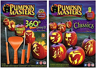 010 Pumpkin Masters Carving Set -360 and Classics Pattern Collection- 2 pc Set