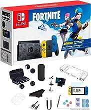 Newest Nintendo Switch Wildcat Bundle Fort-nite Edition 32GB Console - Yellow and Blue Joy-Con, 2000 V-Bucks, 1080p Multi-...