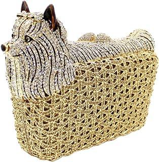 Clutch-Bags Ladies Womens Diamante Sequin-Purse Luxury Chain Evening-Bags Glitter Wedding Horse Yellow