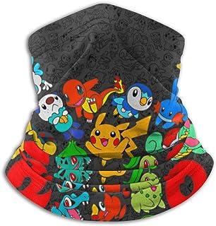 ZVEZVI Unisex Face Mas-k Cuello Polaina Cuello Calentador Bufanda Po-kemon Pikachu Balaclava Headwear Bandana Balaclava pa...