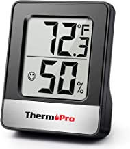 ThermoPro TP49 Digitale Kamerthermometer Binnenshuis Hygrometer Minitemperatuurmonitor Vochtigheidsmeter voor Thuis kantoo...