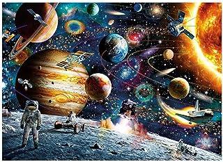 لوحة ماسية بمنظر الفضاء الخارجي محفورة يدويًا بالكامل من ديكديل لتزيين حوائط المنزل وكهدية