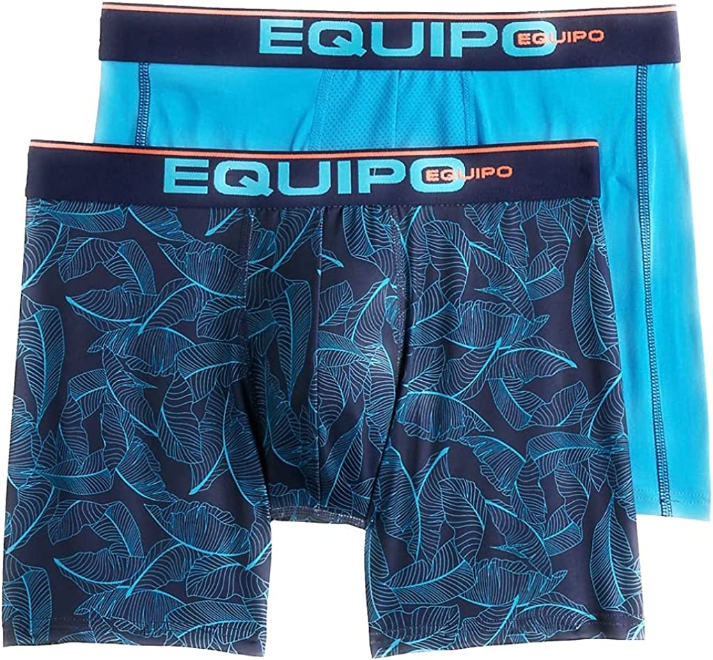 Equipo 2 Pack Microfiber Boxer Briefs Performance Stretch