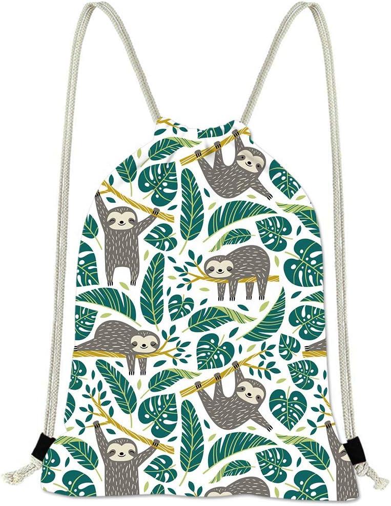 Drawstring Bag For Women Flower Gym Cinch Sack Backpack Sport Swimming Yoga Dance Bags for Girl Waterproof