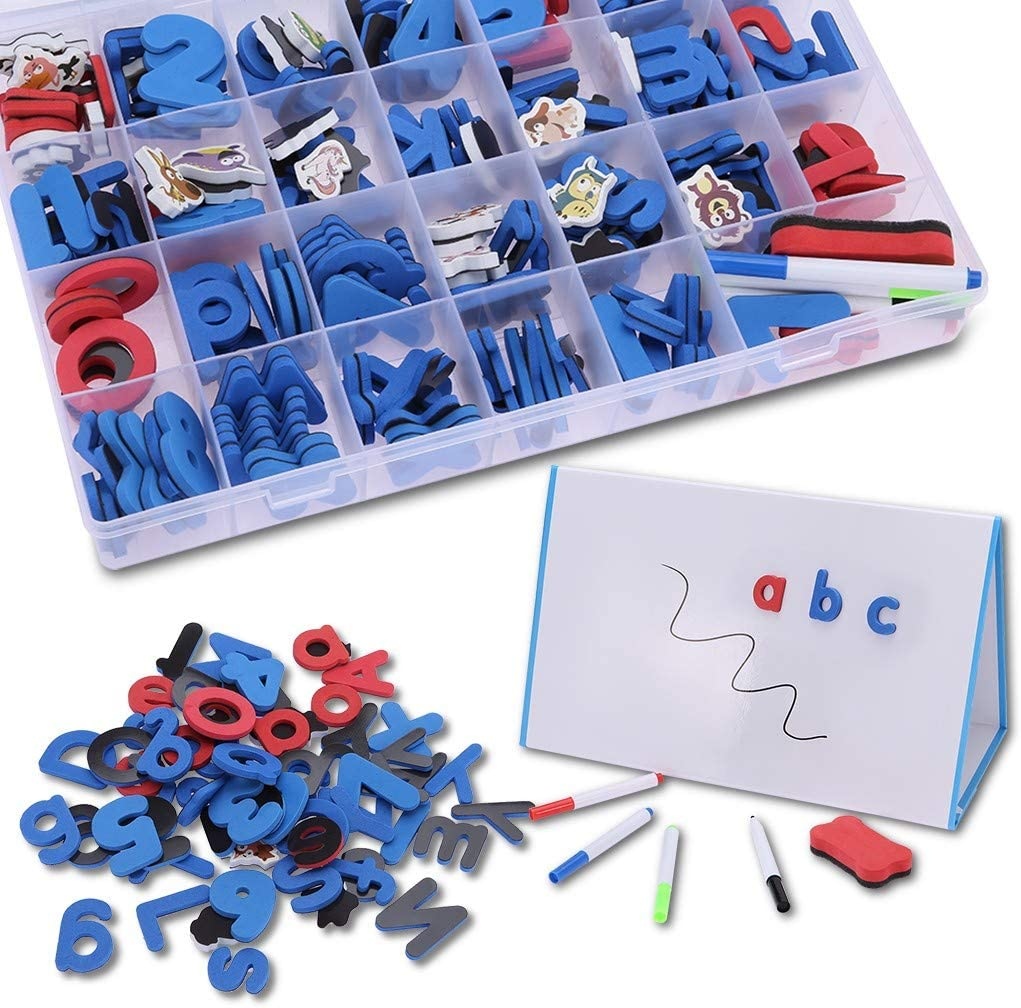 Pubota Limited time cheap sale Magnetic Letters Set with Classroom Storage 100% quality warranty! Box Education