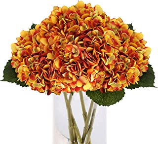 Tifuly 5PCS Artificial Hydrangea Silk Flower Single Stem Faux Hydrangea Flower Bouquets Arrangement for Par...