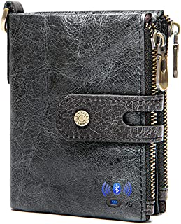 Smart LB Anti-Lost Bluetooth Wallet with Alarm, Position Record (via Phone GPS), Large Capacity Cowhide Leather Vintage Re... photo