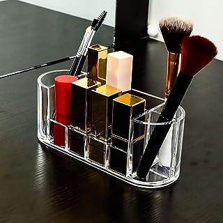 Cosmetische opslagorganisator Lipsticks-houder, doorzichtige make-updoos eyeliner-organizer, 8 slots met compartiment, voo...