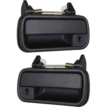 Amazon Com Driver And Passenger Outside Outer Black Chrome Door Handle Replacement For Toyota Pickup Truck 6922089111 6921089111 Automotive