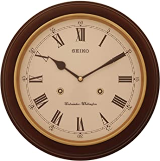 Seiko Station Clock QXH202B RRP: 31.4 x 31.4 x 6.1cm Westminster Chime On/Off Switch Alder case