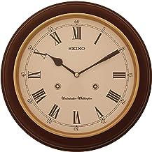 Seiko Wall Clock (31.4 cm x 31.4 cm x 6.1 cm, Brown, QXH202BN)