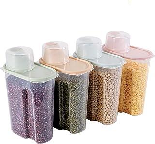 MNBVH Food Storage Containers with Lids Airtight, Recipientes para Alimentos de Plástico Transparente, Sin BPA Contenedore...