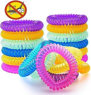 VKTY Lot de 2 bracelets anti-moustiques pour enfants avec huile essentielle pour plantes naturelles 1 mois