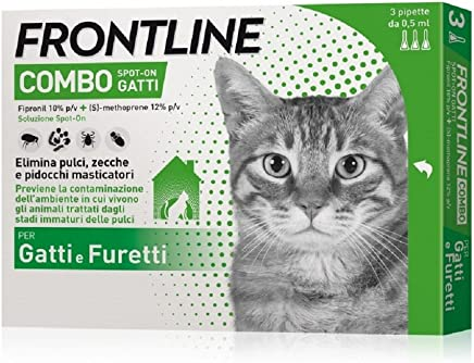 Pipette Frontline Combo Spot-On Gatti e Furetti - 3 Pipette da 0.5 ml