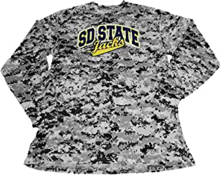 Badger Sport SD State Jackrabbits Digital Camo Long Sleeve Crew Neck T-Shirt (L)