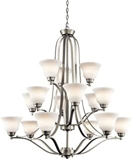 Kichler 1789NI Langford Chandelier 15-Light, Brushed Nickel