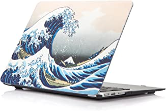 MacBook Air 13 Inch Case, YMIX Hard Plastic Cover Case Smooth Rubberized Protective Case for Apple MacBook Air 13 (A1466 & A1369)(Sea Wave)