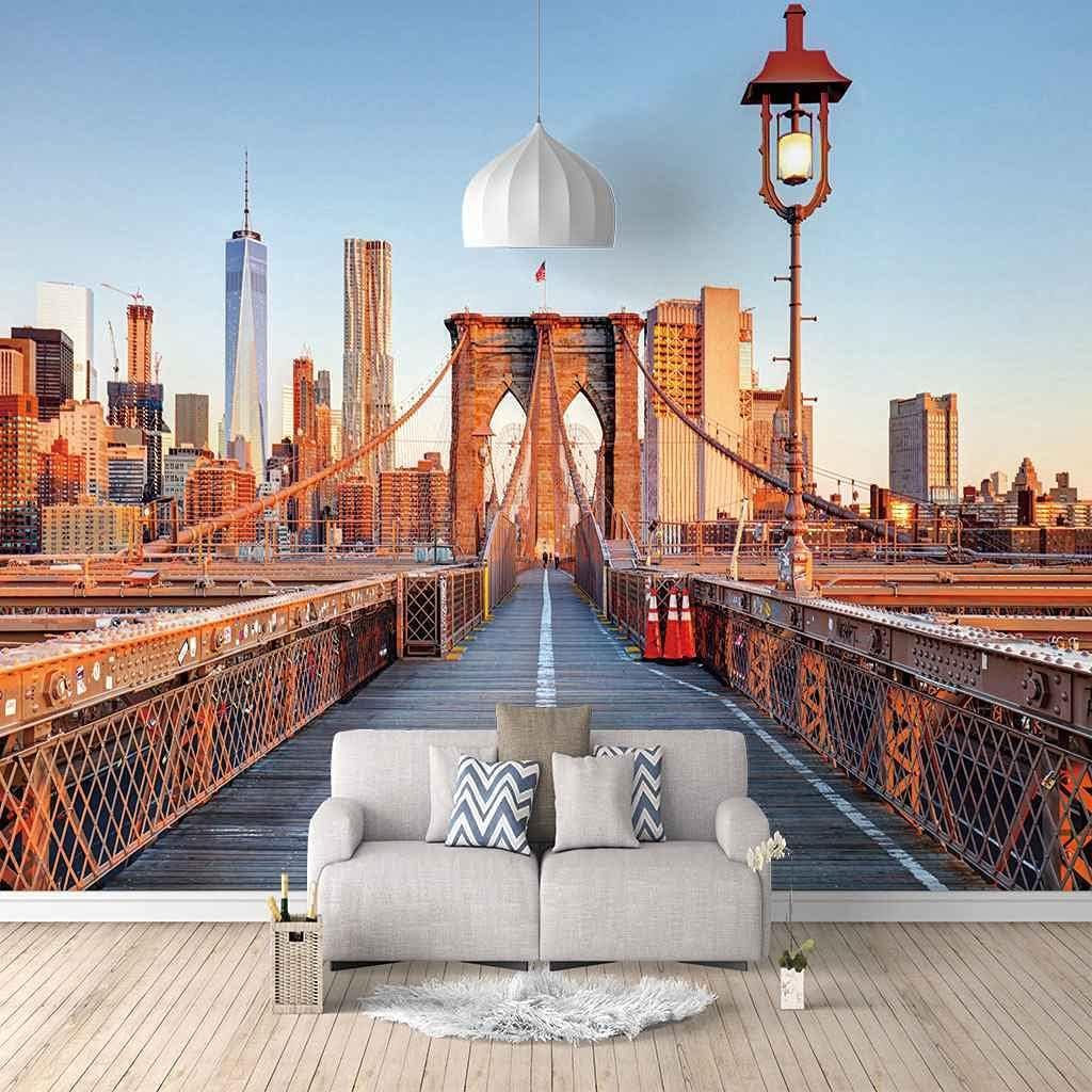 FVGKYS Wall Decals Art 3D Custom Max 42% OFF Bridge Mural Max 83% OFF Buil Famous Poster