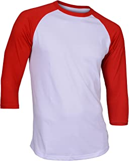 white and red raglan