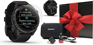 Garmin Approach S42 GPS Golf Watch Gift Box Bundle | Includes Screen Protectors, Car/Wall Adapters & Case | Color Touchscr...