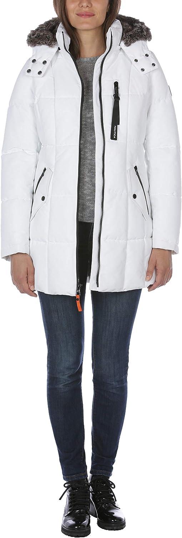 Nautica Women's Heavyweight Puffer Jacket with Faux Fur Lined Hood