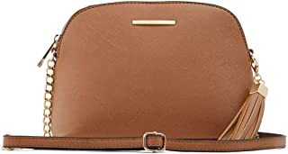 Aldo Handbags Crossbody Bag with Tassels Detail, Elroodie in Cognac