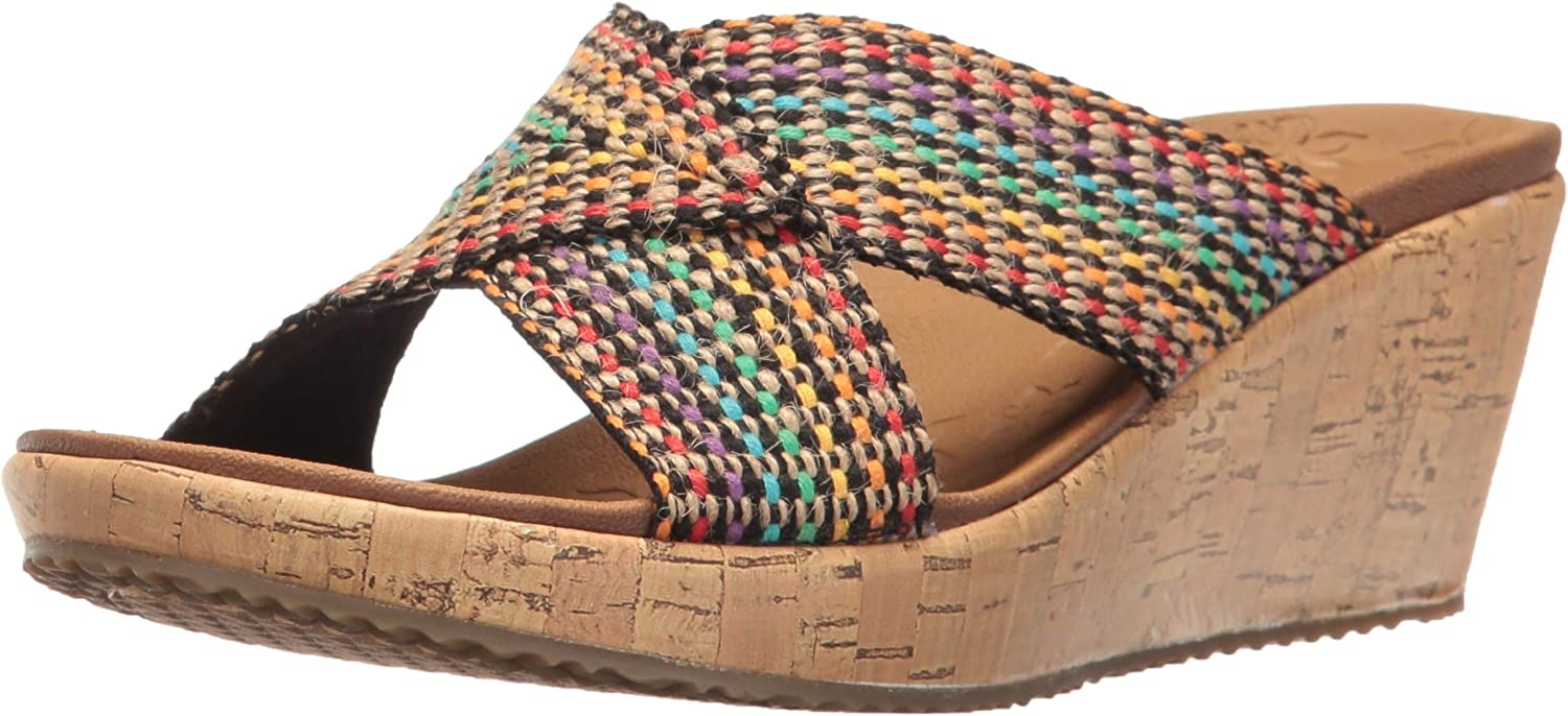 Skechers Cali Women's OFFicial mail order Beverlee Wedge Max 56% OFF Sandal Delighted