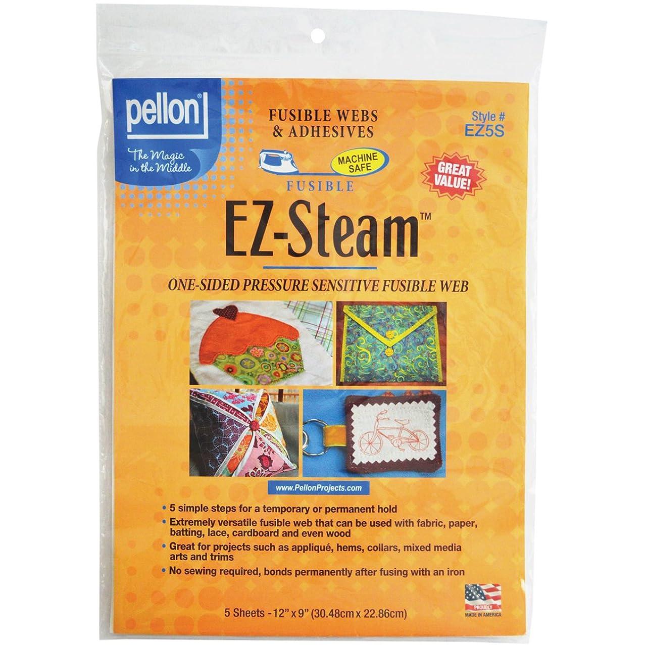 Pellon EZ Steam Sheet, 12-Inch x 9-Inch, White, 5-Pack