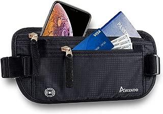 Hidden Travel Money Belt Wallet Waist Bag Fanny Pack RFID Blocking Passport Holder