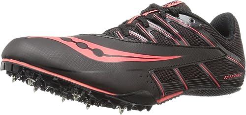 Saucony Hommes's Spitfire 4 Track chaussures, noir rouge, 9 M US