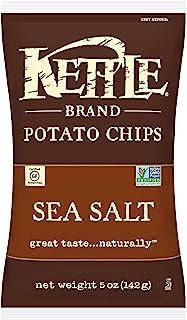 Kettle Brand Potato Chips, Sea Salt, 5 Ounce (Pack of 8)