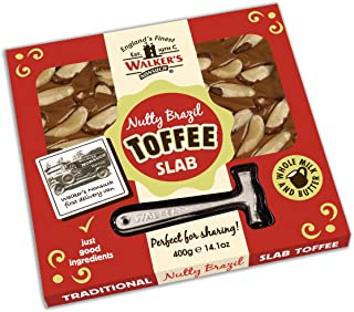 WALKERS NONSUCH Nutty Brazil Toffee Hammer Packs 400 g (Pack of 2)