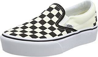 Women's Classic Platform Slip on Trainers, Black (Black and White Checker/White Bww), 7.5 UK 41 EU