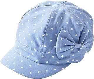 Toddler Baby Girls Cute Polka Dot Bowknot Denim Cotton Cap Sun Hat(6m-4T)