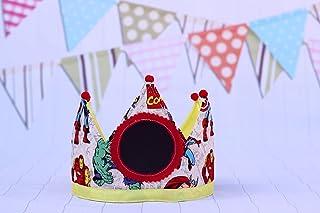 Cappellini da festa Compleanno corona di compleanno per bambini supereroi regalo di compleanno per bambini decorazione di ...