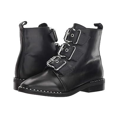Steve Madden Recharge Moto Bootie (Black Leather) Women