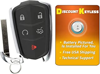 For 14-17 Cadillac ATC CTS Escalade SRX XTS Keyless Entry Remote Key Fob W/Insert HYQ2AB, 13580811, 13594024, 1358539, 13598507