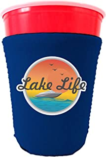 Lake Life Neoprene Collapsible Solo Cup Coolie (Royal Blue)